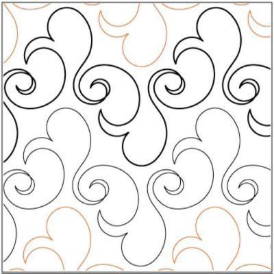 Bluster quilting pantograph pattern by Lorien Quilting