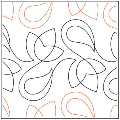 Frieze quilting pantograph sewing pattern by Lorien Quilting