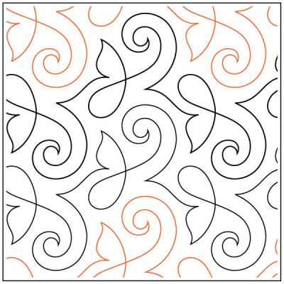 Lorien's Shimmer quilting pantograph sewing pattern by Lorien Quilting