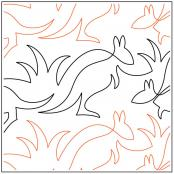 Aussie Kangaroos quilting pantograph sewing pattern by Lorien Quilting
