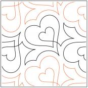 Beloved quilting pantograph sewing pattern by Lorien Quilting