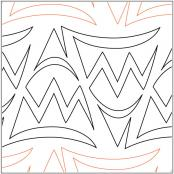 Bunting-quilting-pantograph-pattern-Lorien-Quilting