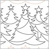 Christmas Forest quilting pantograph pattern by Lorien Quilting