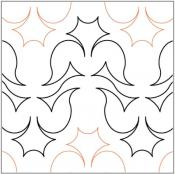 Crocus-Flower-quilting-pantograph-pattern-Lorien-Quilting