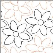 Daisy Delight quilting pantograph pattern by Lorien Quilting