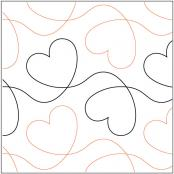 Dear Heart quilting pantograph pattern by Lorien Quilting