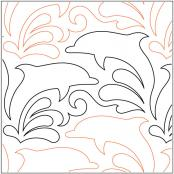 INVENTORY REDUCTION...Dolphin Dance quilting pantograph pattern by Lorien Quilting
