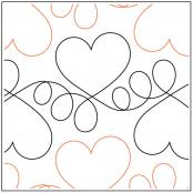 Heartbeat quilting pantograph sewing pattern by Lorien Quilting