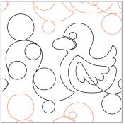 Tubby Duckies quilting pantograph sewing pattern by Lynne Cohen
