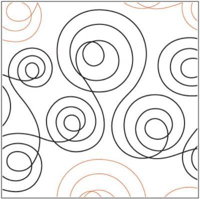 Double Dutch quilting pantograph pattern by Marc Hilton Cohen