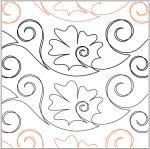 Iznik-Flower-Tile-1-quilting-pantograph-sewing-pattern-Patricia-Ritter-Marybeth-Ohalloran
