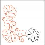 Morning-Glories-Petite-Corner-quilting-pantograph-sewing-pattern-Patricia-Ritter-Marybeth-Ohalloran-1