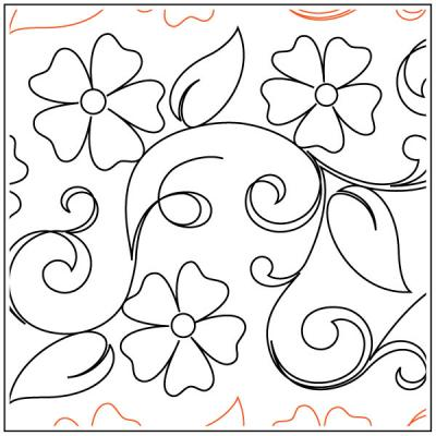 Maureen's Blossoms quilting pantograph sewing pattern from Maureen Foster