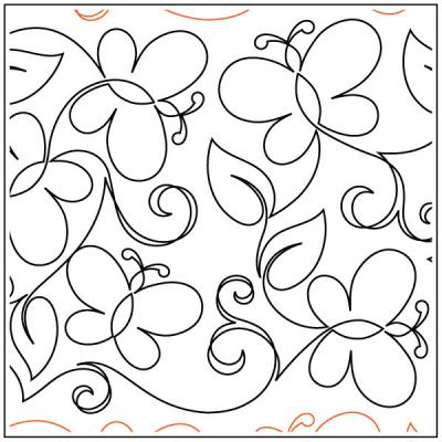 Maureen's Butterfly Garden quilting pantograph sewing pattern from Maureen Foster