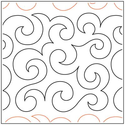 Maureen's Curls N Swirls quilting pantograph sewing pattern from Maureen Foster