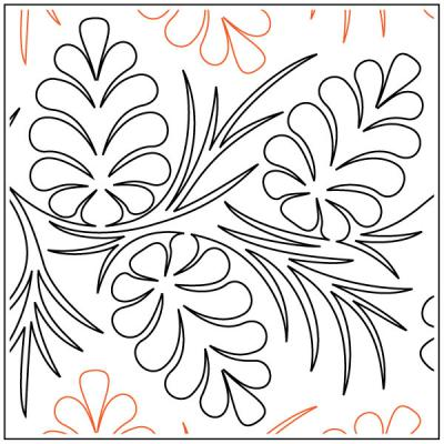 Maureen's Pine Boughs quilting pantograph sewing pattern from Maureen Foster