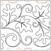 Breezy Leaves quilting pantograph sewing pattern from Maureen Foster