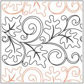 Breezy Leaves quilting pantograph sewing pattern from Maureen Foster 1