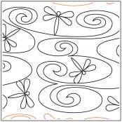 Dragonfly Dreams quilting pantograph sewing pattern from Maureen Foster