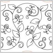 INVENTORY REDUCTION...Garden Bees #1 quilting pantograph sewing pattern from Maureen Foster