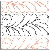 Heart Fern #3 quilting pantograph sewing pattern from Maureen Foster
