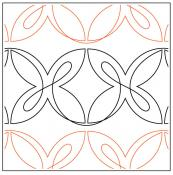 Lovely Loops Border quilting pantograph sewing pattern from Maureen Foster