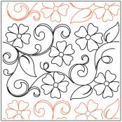 Maureen's Blossoms quilting pantograph sewing pattern from Maureen Foster 1
