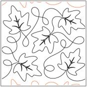 Maureen's Maple Leaves quilting pantograph sewing pattern from Maureen Foster