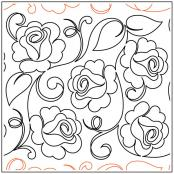 Maureen's Roses quilting pantograph sewing pattern from Maureen Foster