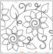 Maureen's Sunflowers quilting pantograph sewing pattern from Maureen Foster