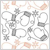 Mittens N Snowflakes quilting pantograph sewing pattern from Maureen Foster 1