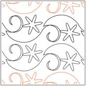 Snowflake Flurry Border quilting pantograph sewing pattern from Maureen Foster