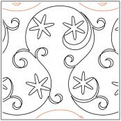 Snowflake Flurry quilting pantograph sewing pattern from Maureen Foster