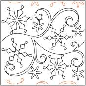 SnowflakeFun quilting pantograph sewing pattern from Maureen Foster
