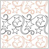 Star Swirls quilting pantograph sewing pattern from Maureen Foster