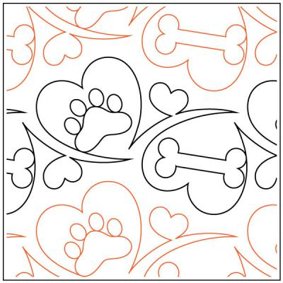 Woof quilting pantograph sewing pattern by Melonie J. Caldwell