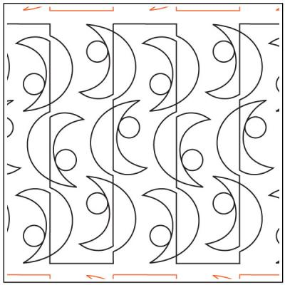 Parabolic quilting pantograph sewing pattern by Melonie J. Caldwell