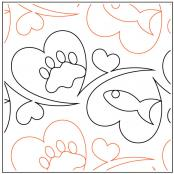 Meowz Cat Treats quilting pantograph sewing pattern by Melonie J. Caldwell