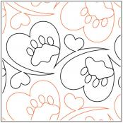 Meowz quilting quilting pantograph sewing pattern by Melonie J. Caldwell