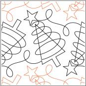 Merry and Bright quilting pantograph sewing pattern by Melonie J. Caldwell