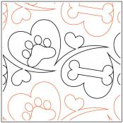 Woof Dog Treats quilting pantograph sewing pattern by Melonie J. Caldwell