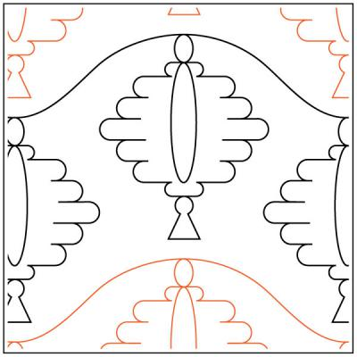 Sky Light quilting pantograph sewing pattern by Melonie Caldwell