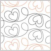 Two of Hearts quilting pantograph sewing pattern by Melonie Caldwell