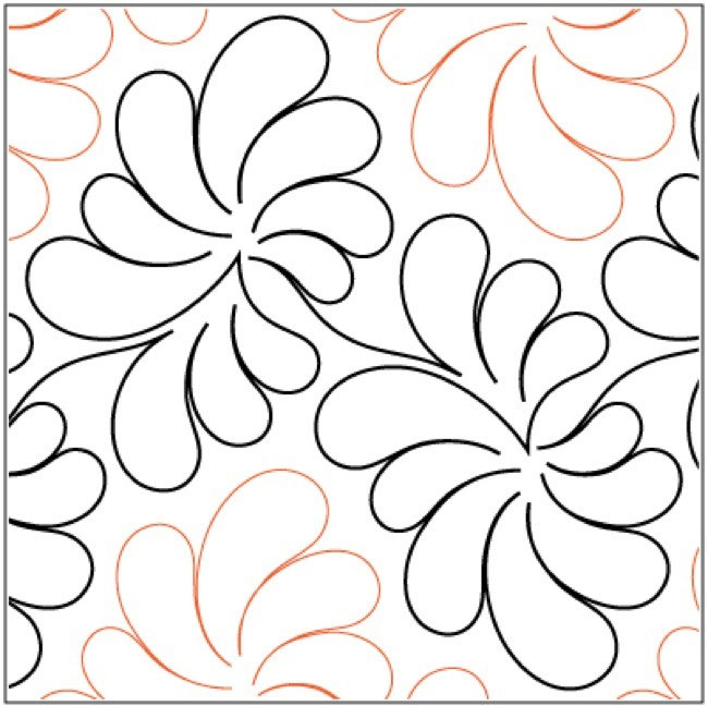 Dandelion-quilting-pantograph-Patricia-Ritter-Melonie-J-Caldwell