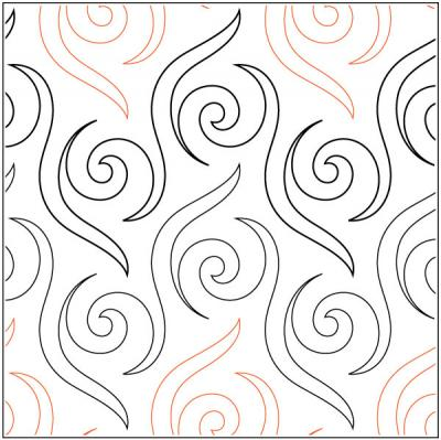Cha Cha pantograph pattern by Patricia Ritter and Melonie J. Caldwell