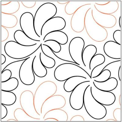 Dandelion pantograph pattern by Patricia Ritter and Melonie J. Caldwell