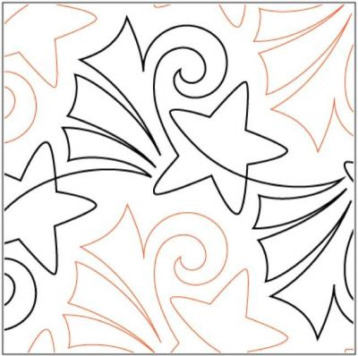 Fireworks pantograph pattern by Patricia Ritter and Melonie J. Caldwell