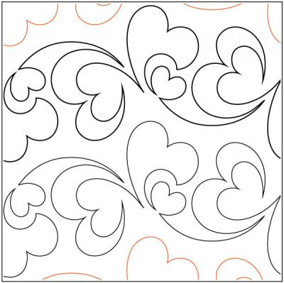 INVENTORY REDUCTION...Pieces Of My Heart pantograph pattern by Patricia Ritter and Melonie J. Caldwell