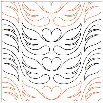 Sprite pantograph pattern by Patricia Ritter and Melonie J. Caldwell