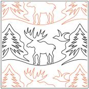 Great Outdoors Moose pantograph sewing pattern by Melonie J. Caldwell 1